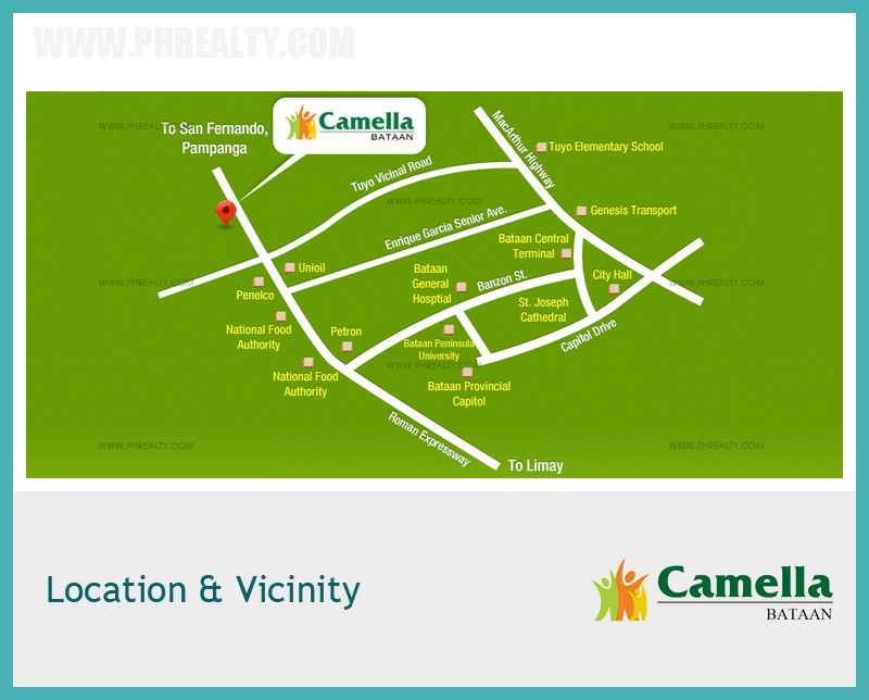 Camella Bataan - Location & Vicinity